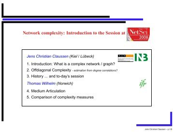 What is a complex network?