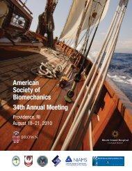 American Society of Biomechanics 34th Annual ... - Brown University