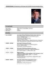 Dominik Schober Schönleinstr - Lehrstuhl für Energiewirtschaft