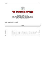 Satzung über die Festlegung der Schulbezirke für die - Stadt Lingen