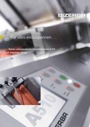 Informationen in unserer Broschüre A 510 - Bizerba