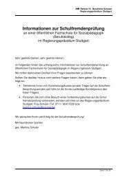 Informationen zur Schulfremdenprüfung - Fritz-Ruoff-Schule