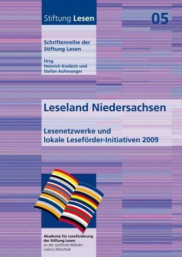 Leseland Niedersachsen 2009 - Akademie für Leseförderung