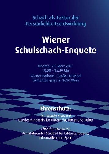 Wiener Schulschach-Enquete - Österreichischer Schachbund