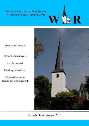Juni - August 2010 - Evangelische Kirchengemeinde