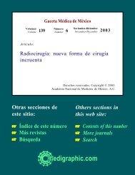 Radiocirugía: nueva forma de cirugía incruenta - edigraphic.com