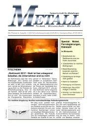 Themenvorschau METALL - Metall-web.de