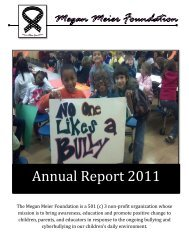 Annual Report 2011 - Megan Meier Foundation