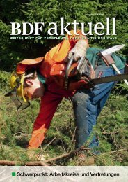 Schwerpunkt: Arbeitskreise und Vertretungen - BDF