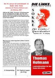 Am 15. Januar ist Landratswahl im Saale– Orla– Kreis - DIE LINKE ...