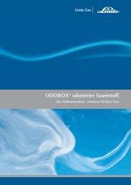 Prospekt ODOROX® - odorierter Sauerstoff (PDF, 323,0 ... - Linde Gas