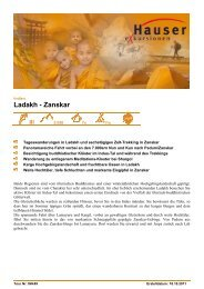 Ladakh - Zanskar - Hauser exkursionen