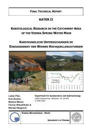 Karstological Research in the Catchment Area - KATER