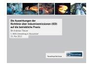 Die Auswirkungen der Richtlinie über Industrieemissionen (IED)