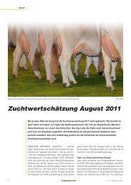 Zuchtwertschätzung August 2011 [267 KB]