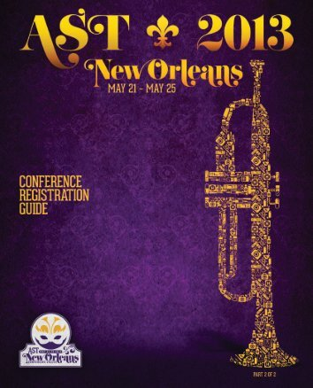 AST 2013 Conference Registration Guide - Association of Surgical ...