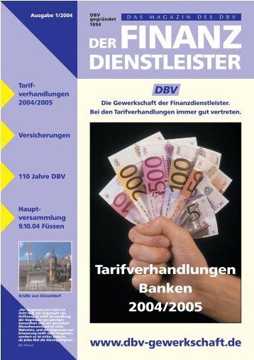 F r PDF Bank 1/2004 - DBV