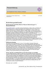 Pressemitteilung - Evangelische Kirche in Hessen und Nassau