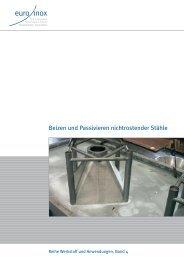 PDF: Beizen und Passivieren nichtrostender Stähle - Euro Inox