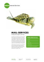 MAIL-SERVICES - GoEast Internet Services