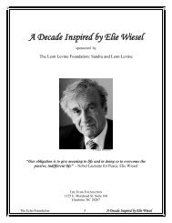 Elie Wiesel: The Man - The Echo Foundation