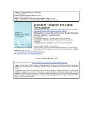 GABAA Receptors in Central Nervous System Disease - Collegium ...