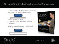 Pinnacle Studio 14 – Installation der Trialversion