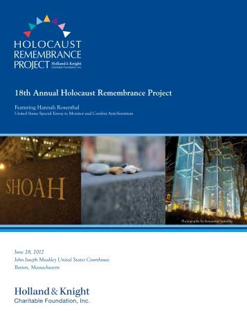 18th Annual Holocaust Remembrance Project