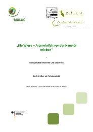 """""""Die Wiese – Artenvielfalt vor der Haustür erleben"""" - BIOLOG ..."""