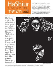 Elie Wiesel wrote of the uniqueness of those who are now called the ...