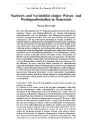 Nachweis und Variabilität einiger Wiesen- und Weidegesellschaften ...