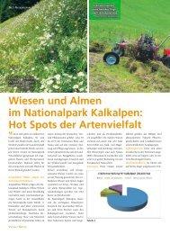 Wiesen und Almen im Nationalpark Kalkalpen: Hot Spots der ...