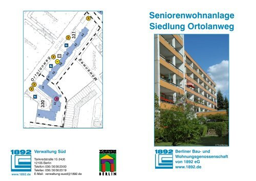 Seniorenwohnanlage Siedlung Ortolanweg Berliner Bau Und