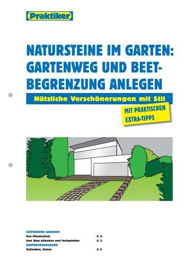 natursteine im garten: gartenweg und beet- begrenzung ... - Praktiker
