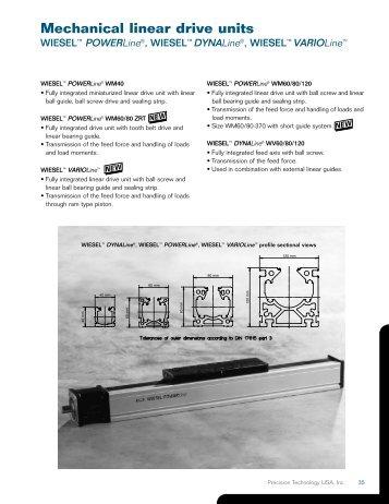 Mechanical linear drive units - Precision Technology - Linear Actuators