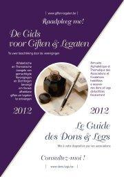 De Gids voor Giften & Legaten - Le Guide Dons et Legs