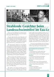 Strahlende Gesichter - Stiftung Eben-Ezer