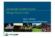 Genetische modificatie in relatie tot allergie-Harry Wichers