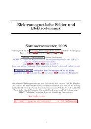 Elektromagnetische Felder und Elektrodynamik Sommersemester ...