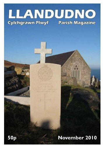 November 2010 - The Church in Wales Parish of Llandudno, North ...