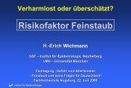 Risikofaktor Feinstaub - Helmholtz Zentrum München