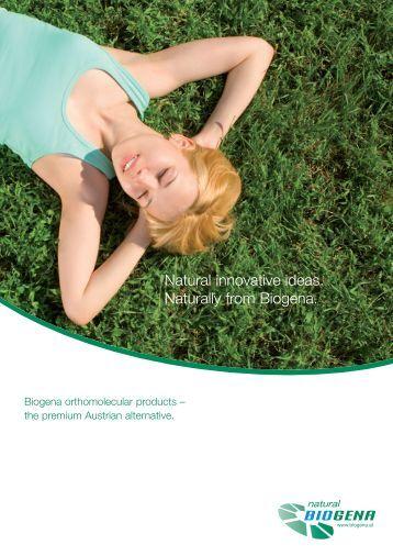 Natural innovative ideas. Naturally from Biogena.