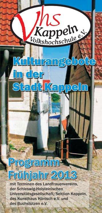 Kulturangebote in der Stadt Kappeln (pdf 0.8Mb - Volkshochschule ...