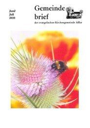 Gemeindebrief Juni/Juli 2010 - Evangelische Kirche Asslar
