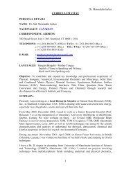 Dr. Sarker Personal Resume - Moinuddinfoundation.org