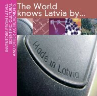 The World knows Latvia by...