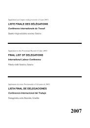 liste finale2 - International Labour Organization