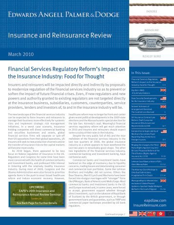 Insurance and Reinsurance Review PDF ... - Edwards Wildman