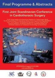SATS 2009 Final Program - Scandinavian Association for Thoracic ...