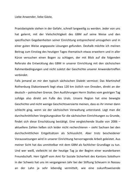 Praxisbeispiele – GBM Wohnen - Diakonie Dresden